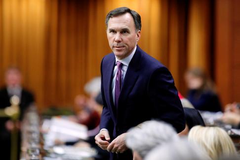 Canada's Finance Minister Bill Morneau speaks in the House of Commons before the COVID-19 pandemic. As of July 5, 2020, the Canadian government distributed $54.79 billion in CERB benefits.