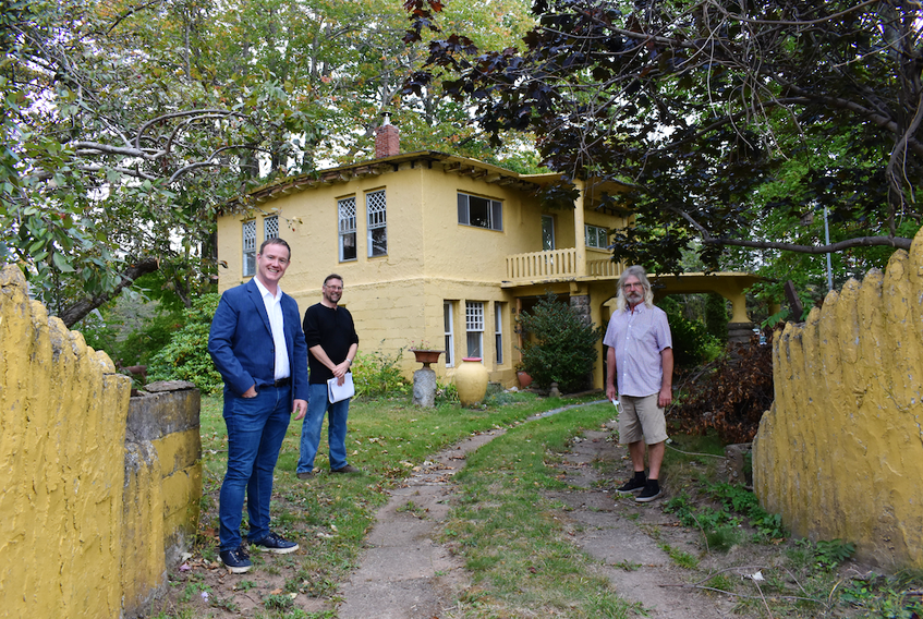 Charles Macdonald House of Centreville Society board members Geof Turner, Andrew Hurst and Kevin West are among a local group of volunteers working to save the local structure that is both a historic landmark and functional work of art.