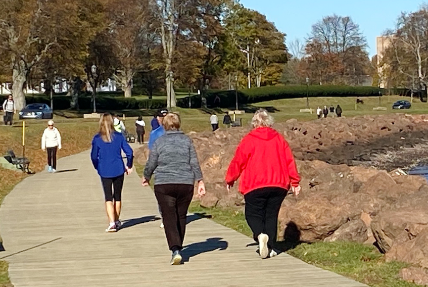 Temperatures are well above the seasonal average around the region today, with Charlottetown recording 20 C at the time this picture was taken around 1 p.m. on the Victoria Park boardwalk in Charlottetown. People were able to leave their heavy jackets, boots and hats in the closet for the day and enjoy a stroll in the sun. Temperatures are expected to remain mild for the next couple of days.