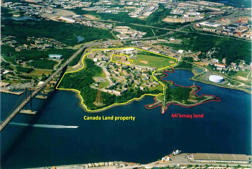 In 2014, Canada Lands received 33 hectares of land at Shannon Park from the Department of National Defence. The federal government retained 3.6 hectares across Tufts Cove from the Nova Scotia Power generating plant and transferred it to Millbrook First Nations. - Canada Lands Company