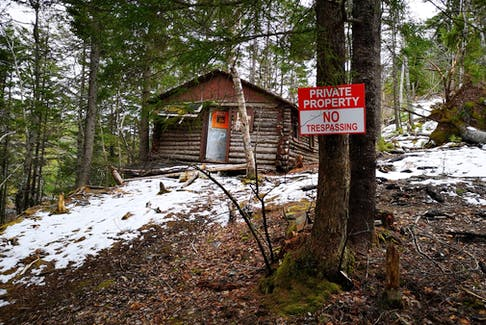 One of the no trespassing signs posted in Annapolis Group's land in the Blue Mountain-Birch Cove Lakes area. -- Michael Haynes