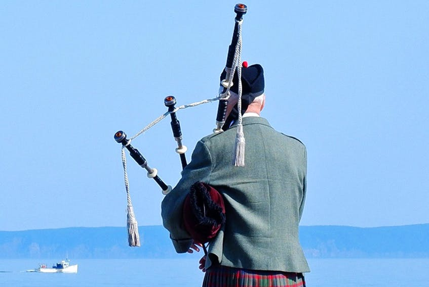 What a sight! And if you close your eyes, you can almost hear the skirl of the pipes echoing off the waters of the Bay of Fundy. Phil Vogler came across this lone piper one cloudless day and not wanting to disturb him, took this amazing photo from behind. Bagpipes have been around for a very long time; people believe that the shepherds invented bagpipes. The Bible mentioned them too however, many historians agree that the bagpipes were invented in Sumeria. Sumeria is part of the old Mesopotamian village that lived during 2,000 BC which is now present-day Iraq. - Contributed