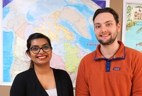 At the Association for New Canadians, Sophia Solomon is the first point of contact for international students, temporary foreign workers and other temporary residents, and Zach Noel works with AIP employers to offer information and assistance. - Contributed.