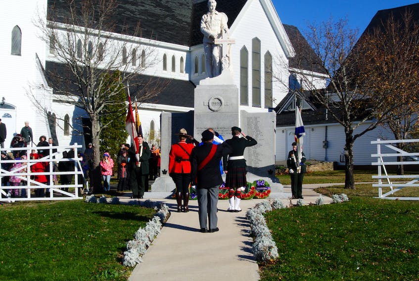 A small but dedicated community continues to remember the war-fallen from Springhill, N.S.