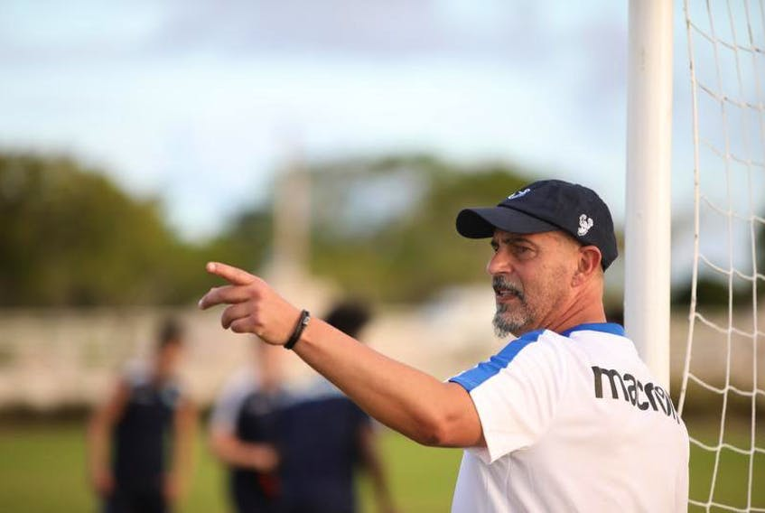 HFX Wanderers FC coach Stephen Hart watches his players during a training session in the Dominican Republic last week. The Wanderers open their Canadian Premier League soccer season  April 28 against Pacific FC in Langford, B.C.