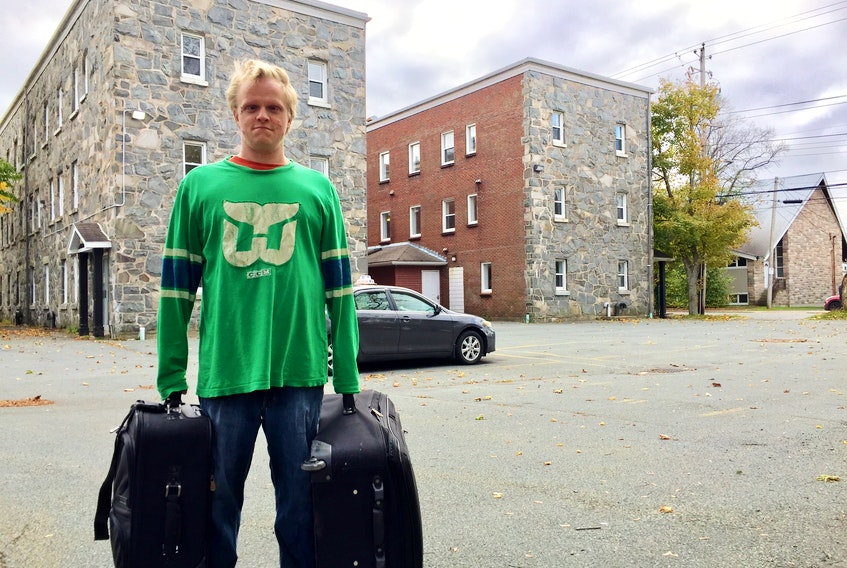 Stephen McCabe, who copes with serious medical issues, moved out of Ardmore Hall in Halifax on Sunday. The low-rent apartment building is being torn down and replaced with high-end units.