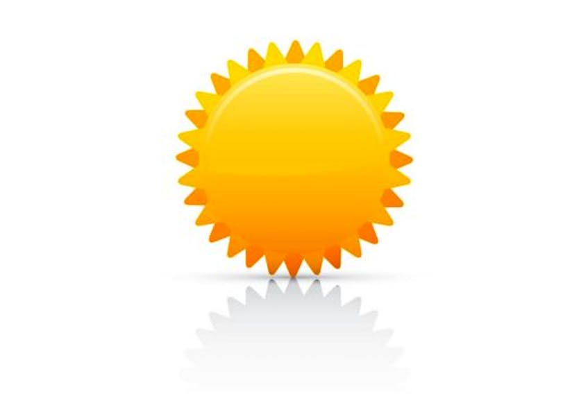 Sunny today.