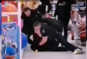 Police arrest SantinaRao at the Mumford Road Walmart on Jan. 15, 2020.