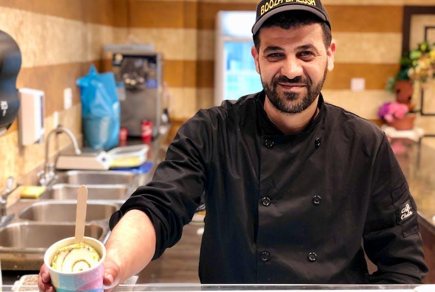 Samer Aljokhadar has opened Booza Emessa, Canada's first Syrian ice cream shop, in Bedford. - Maan Alhmidi