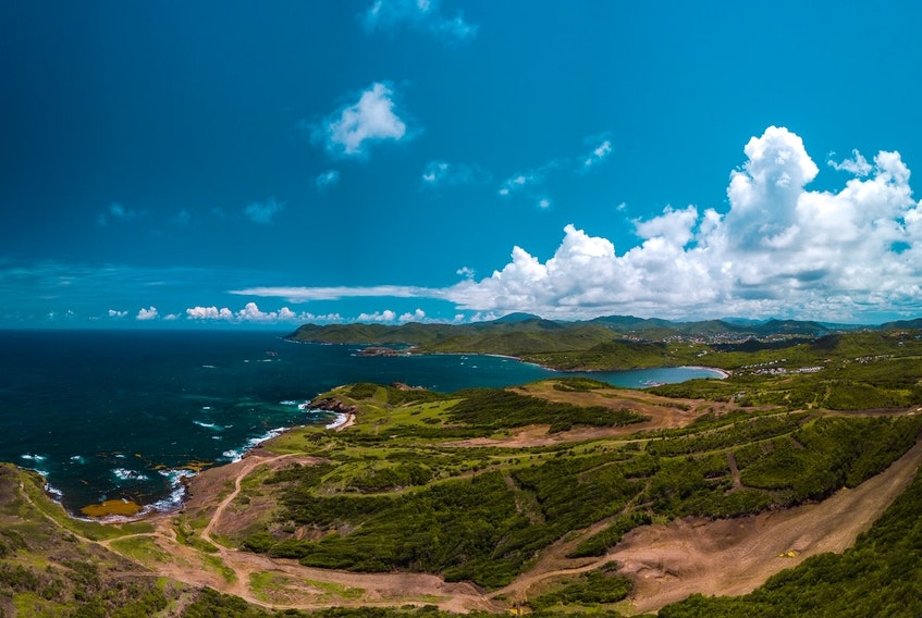 Cabot Links is building a golf course and resort on this site in St. Lucia. - Commissioned by Akim Adé Larcher