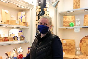 Ashwurks owner Donna Hopper is seen at the Halifax Seaport Farmers' Market on Sunday, Jan. 10, 2021. Hopper welcomes the move of the market because she says it aligns with her vision to expand her business.