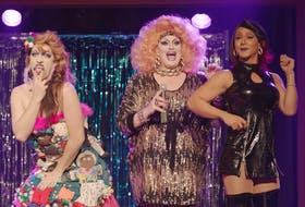 Cape Breton-raised actor Allister MacDonald (far left) is Joan of Arkansas in Stage Mother, the new Thom Fitzgerald film starring Jacki Weaver as a new matriarch to a family of San Francisco drag queens. The film opens Friday at Cineplex Cinemas Park Lane and on video-on-demand. - Film Mode Entertainment