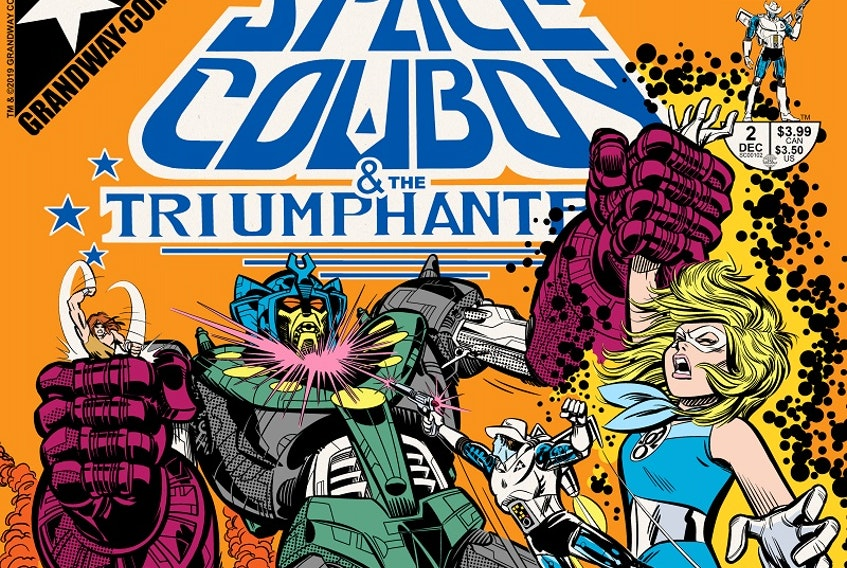 Dartmouth-based Grandway Comics is in the running for Sequential Magazine's best Canadian comic book of 2020 for the second issue of Space Cowboy & the Triumphanteers. Fans have until Sunday at midnight to vote for the title at sequentialpulp.ca.