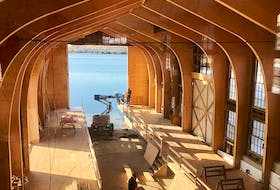 Restoration is now complete for Lunenburg's Big Boat Shed where famous ships like the Bluenose II and the replica of HMS Bounty were built. The facility will soon be open to visitors as part of the waterfront Fisheries Museum of the Atlantic, with new displays and exhibitions, as 2021 marks the 100th anniversary of the launch of the original Bluenose schooner..