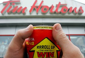 A Roll Up the Rim contest cup in 2010. PostMedia News