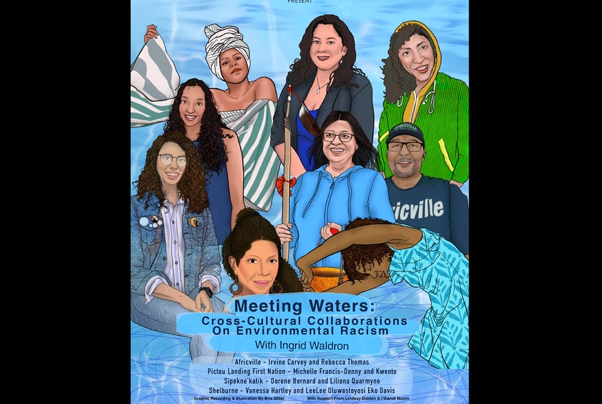 Meeting Waters, a cross-cultural collaboration on environmental racism in Nova Scotia, will take place online on Wedensday, Oct. 14 at 7 p.m. as part of Nocturne Art at Night.