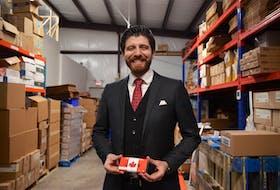 New Canadian Tareq Hadhad in his family's Antigonish chocolate making facility. Aaron Beswick/The Chronicle Herald