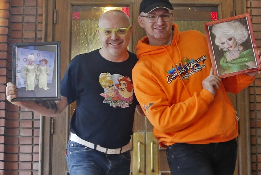 Veteran drag artists Jake Rafuse, (Dyna Might) left and Steven MacLeod (Deva Station) were recently honored by TD for their efforts in reaching out to the community in support during the COVID-19 lockdown. The couple provided support to fellow drag queens via social media, physically distanced visits, and their YouTube channel StationDRG's long-running show Queens Ranting.
