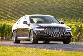 The 2020 Genesis G90 is powered by a 5.0-litre, V8 engine that generates up 420 horsepower and 383 lb.-ft. of torque.