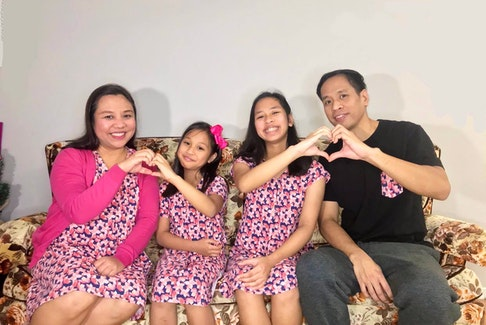 From left: Nikko San Pedro, Safiya Gabrial San Pedro, Raniell Nicole San Pedro and Harold San Pedro. The Filipino family arrived in Nova Scotia on May 26 amid the COVID-19 pandemic and is gearing to celebrate their first Christmas in the province.