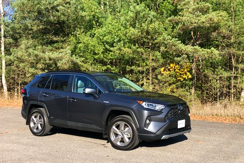 The 2020 Toyota RAV4 is powered by a 2.5-litre, four-cylinder gasoline engine (176-hp, 163 lb.-ft.) coupled with an electric motor (149-hp, 88 lb.-ft.); it gets 219 net horsepower and 206 net lb.-ft. of torque.