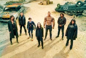 The assembled cast of The Umbrella Academy, now in its second season on Netflix. The ensemble is ultimately what makes it so damn watchable.