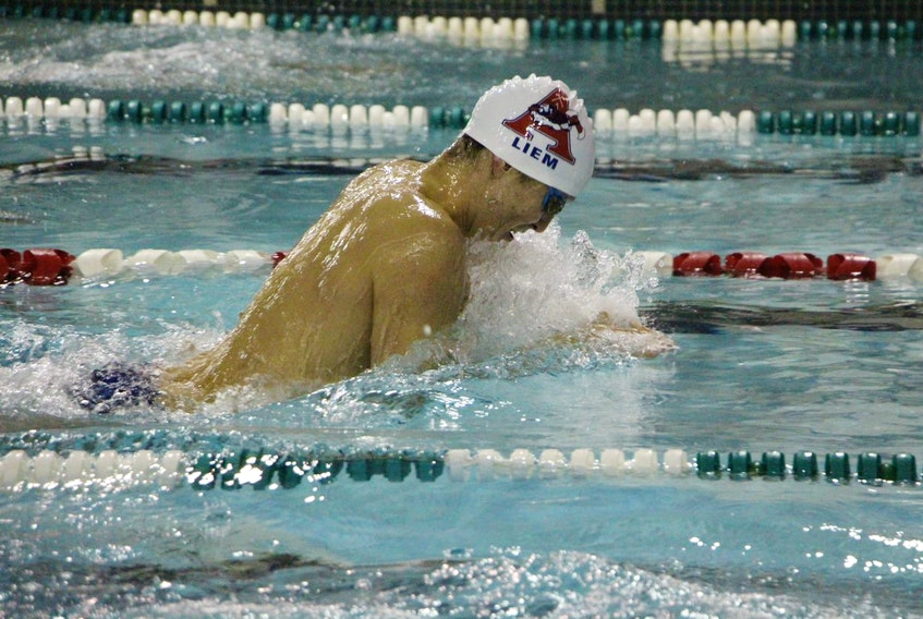 Brett Liem hopes to lead the Acadia Axemen to their first AUS men's swimming title since 10980-81. Peter Oleskevich/ Acadia Athletics