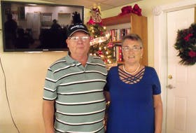 Wayne and Debbie Mailman pose for a photo in their winter home in Florida in December 2019. The couple, who were in Florida this year and contracted COVID-19, are facing steep medical bills for their time in hospital there.