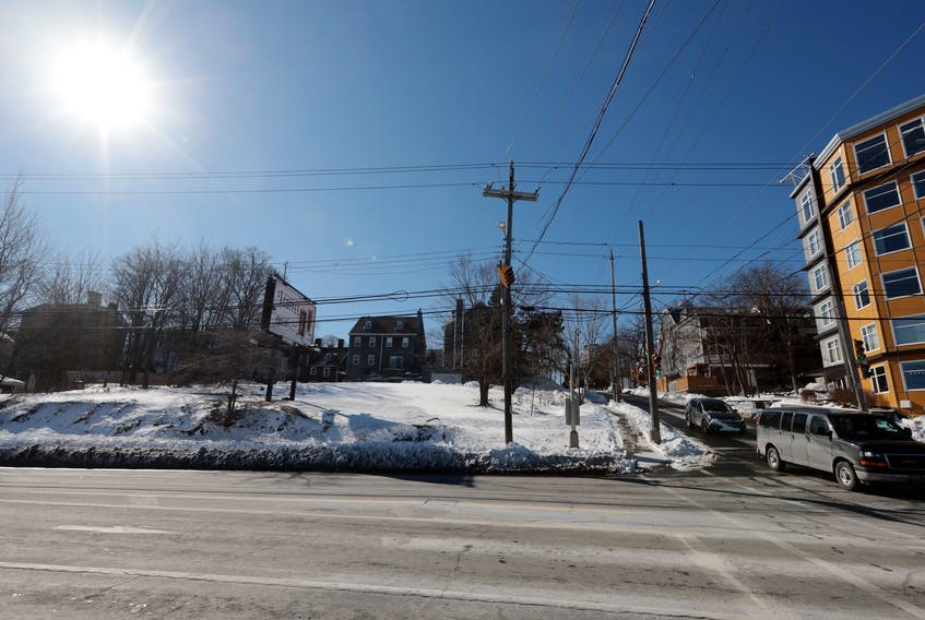 Feb. 10, 2021--Halifax City Council discussed a proposed mixed-use community service building/emergency shelter/affordable housing development at 2190 Barrington St., which is an empty lot next to Metro Turning Point. (for Noushin's story) ERIC WYNNE/Chronicle Herald