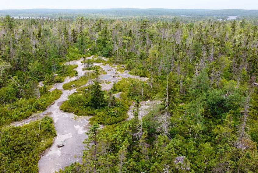 July 20, 2020—Aerial views of Blue Mountain-Birch Cove Lakes Wilderness area.
