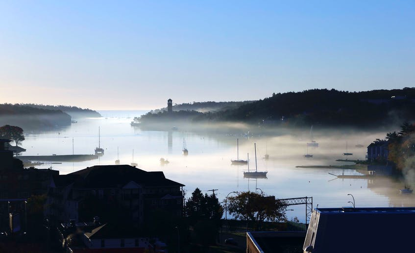 Along the Northwest Arm the morning fog starts to burn off as the sun rises on a new day on Oct. 16, 2020. - Eric Wynne / File