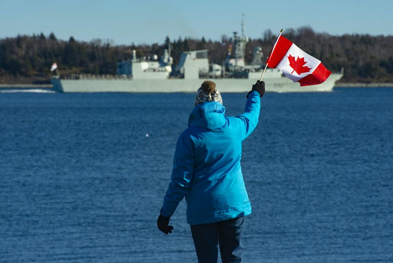 Muslim sailors breaking their fast aboard HMCS Halifax