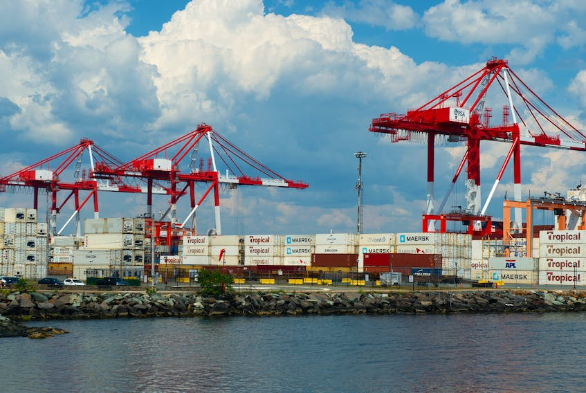 The PSA Halifax container terminal on Friday, August 14, 2020.