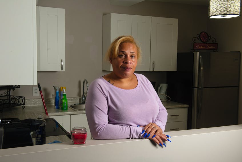 Tia Upshaw, at one of her Airbnb properties in Fairview on Wednesday, December 9, 2020. Upshaw, who owns three businesses, has signed up to be part of the Ebony Shopping Plaza, a website that will help connect customers with local, Black-owned businesses.