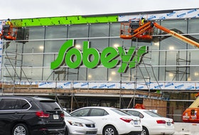 Renovation work continues on the Mumford Rd. Sobeys in photo taken in October.