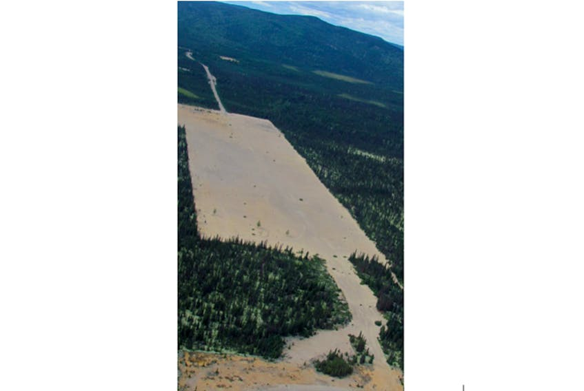The Lower Churchill Hydroelectric Project was not the first proposed development of a dam at the area of Gull Island, on the Churchill River between Churchill Falls and Muskrat Falls. This photo, taken in 2012, shows an area cleared for work at Gull Island. The plug was pulled on a previous plan for development there, but the provincial government says a development could happen, if there was a clear buyer.