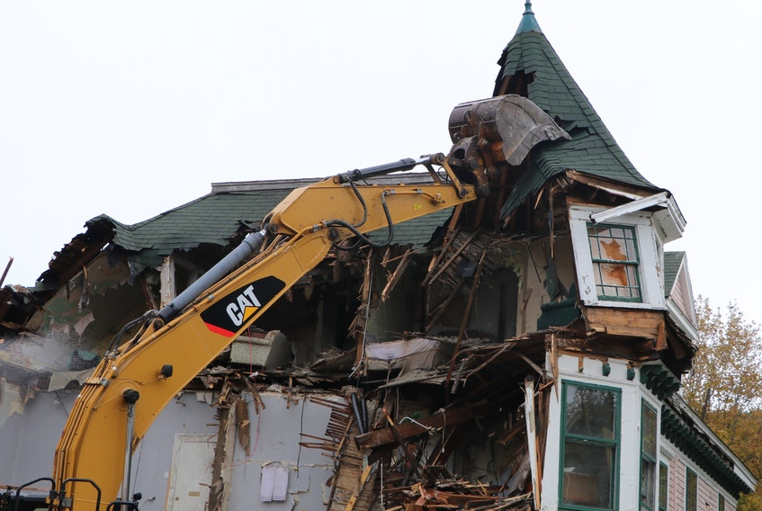 Waterford Manor, the 113-year-old Queen Anne-style house at the corner of Waterford Bridge Road and Waterford Lane in St. John's, was demolished on Tuesday.