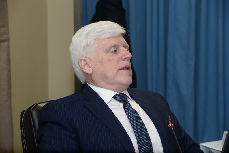 Former Nalcor Energy president and CEO Ed Martin at the Muskrat Falls Inquiry on Wednesday. - Joe Gibbons