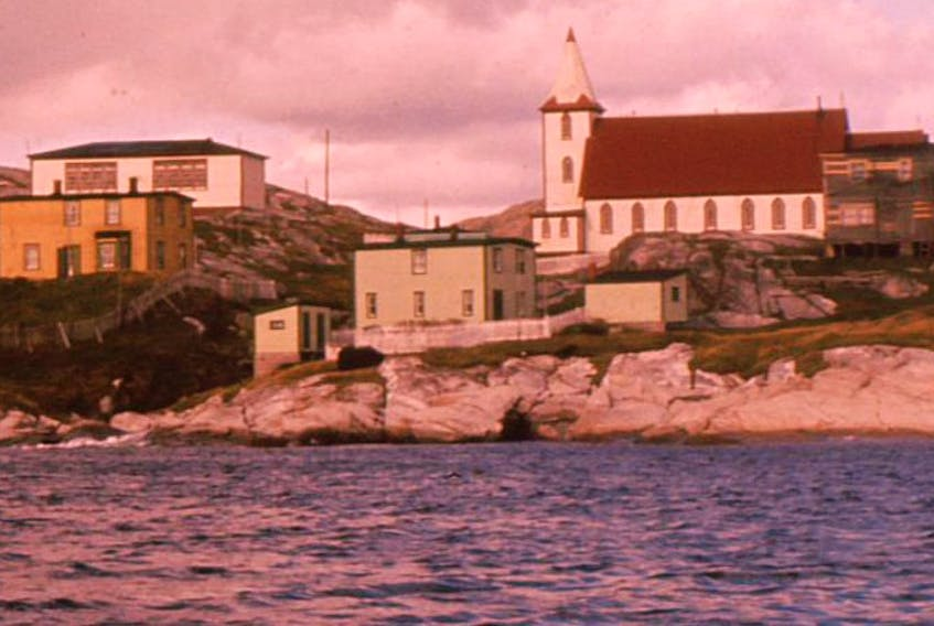 Pushthrough, a tiny town on the province's southwest coast, in the early 1960s. The community was resettled in 1969, with its residents relocating mainly to Fortune, Hermitage, Milltown and Gaultois.