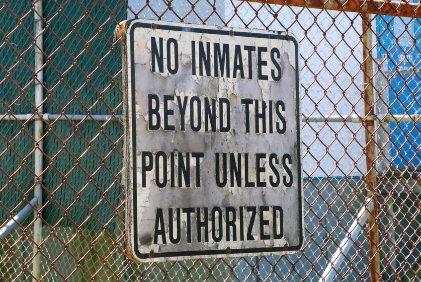 A sign outside Her Majesty's Penitentiary.