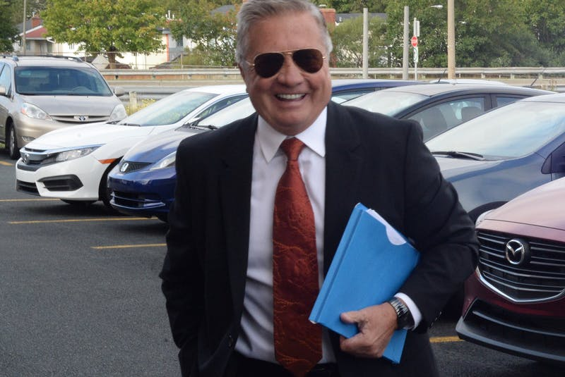 Former premier Danny Williams arrives to testify at the Commission of Inquiry Respecting the Muskrat Falls Project in St. John's. - Joe Gibbons