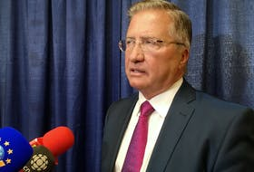 Former premier Danny Williams completed his time on the stand before the Muskrat Falls Inquiry on Tuesday, at the Beothuck Building in St. John's. Afterward, Williams spoke with reporters, saying he was glad to have a chance to respond to questions and to critics of the project.