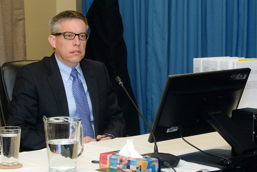 Jason Kean at the Muskrat Falls Inquiry on Tuesday.
