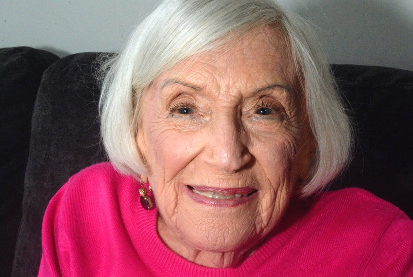 Second World War French spy Marthe Cohen in St. John's on Wednesday.