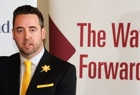 Justice Minister Andrew Parsons announces the provincial government's intention to begin construction of a new provincial prison in 2022, Wednesday at the boathouse at Quidi Vidi Lake.