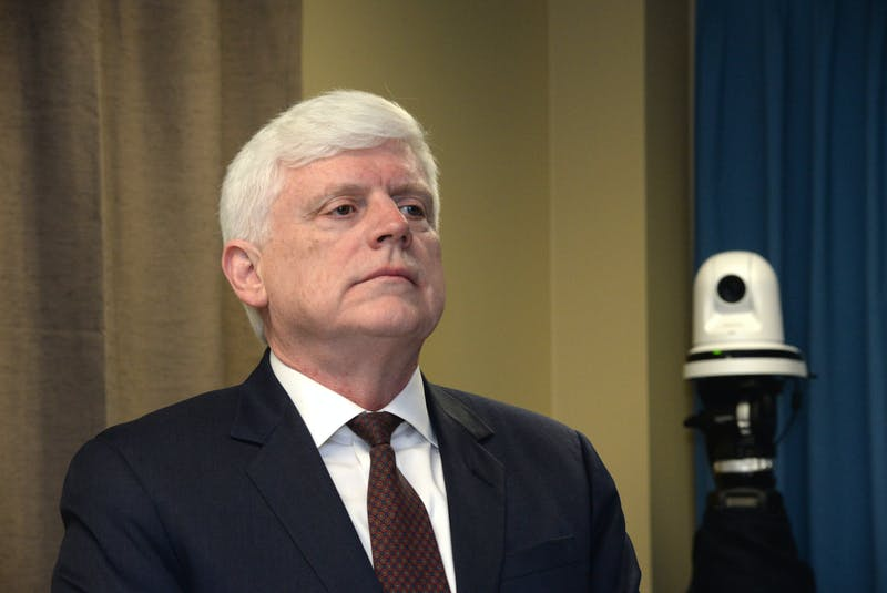 Former Nalcor Energy president and CEO Ed Martin at the Muskrat Falls Inquiry. - Joe Gibbons
