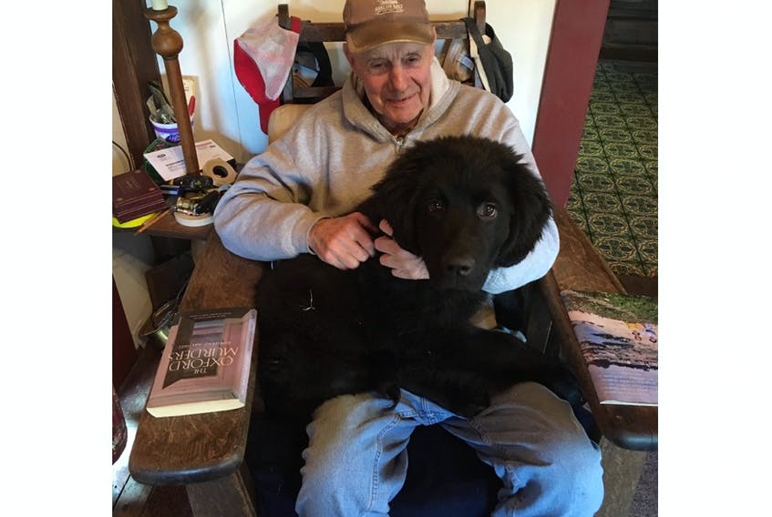 A recent photo of Jim Tuck with his fourth and last Newfoundland dog, Jack. He got his first one, named Smudge, the first year he moved to the province. The family asks that in lieu of flowers, people donate to Pawssibilities LLC (C/O Hilary Norcross, 198 Clark St., Gardner, MA 01440). The dog training organization will rescue and train one service dog per year in Jim's memory.