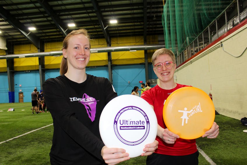 Melissa Wheeler (left) and Rosie Myers (right) are excited about recent steps taken in St. John's ultimate mixed leagues to improve gender equity.