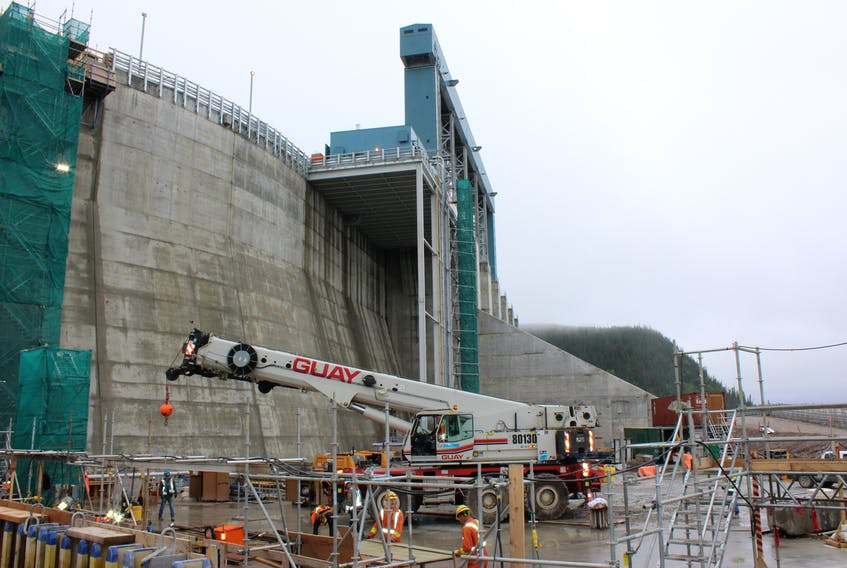 The Muskrat Falls construction site in August 2017.