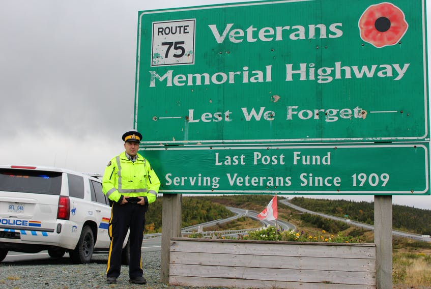 RCMP Const. David Bourden says bad driving habits, not the structural layout of the road, are the source of accidents and tragedy on the Veterans Memorial Highway.